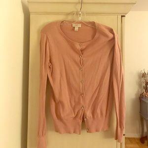 Loft pink cardigan size small